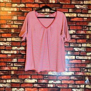18/20 Pink & White Striped Avenue T-Shirt
